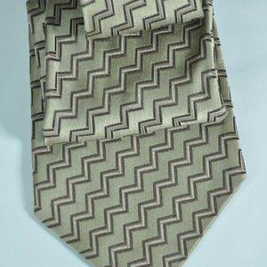 $250 Stefano Ricci Tan 100% Silk Tie